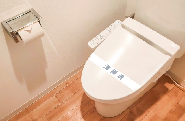 トイレ玄関清掃済みシート安